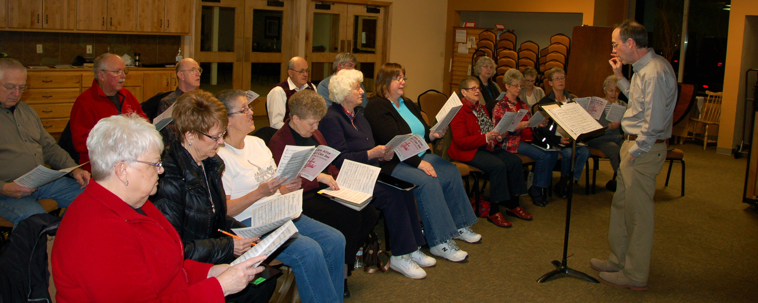 Church choir rehearsal